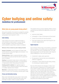 Cyber bullying and online safety
